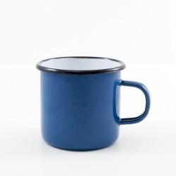 drinkmok - waterblauw & witte spikkeltjes - 8 cm