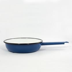 koekenpan - blauw & spikkeltjes - 22 cm