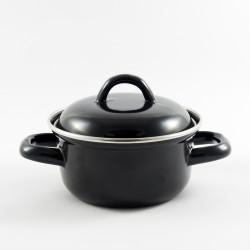 pannetje - zwart - klein - 600 ml