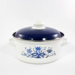 kookpan - wit & blauwe bloemen - 2,5 liter