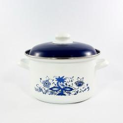 beschadigde - kookpan - wit & blauwe bloemen - 1,5 liter