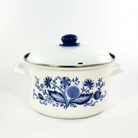 kookpan - wit & bloemen - 6 liter