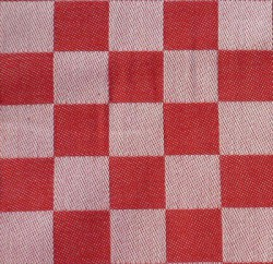 dambont / pompdoekstof - rood - per meter