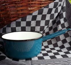 steelpan - blauw & spikkeltjes - 2,25 liter / 2250 ml