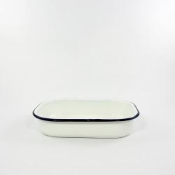 ovenschaaltje - HOLLAND - wit met een blauwe rand - 21cmx14cm