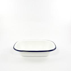 ovenschaal - HOLLAND - wit met een blauwe rand - 24 cmx14cm