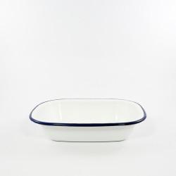 ovenschaal - HOLLAND - wit met een blauwe rand - 26 cmx15cm
