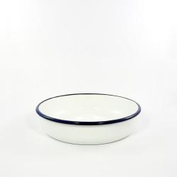 ovenschaal rond - HOLLAND- wit met een blauwe rand - 24 cm