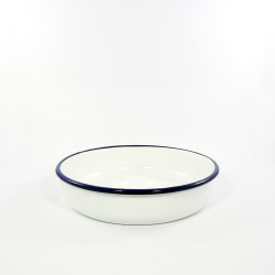 ovenschaal rond - rood & witte spikkeltjes -  28 cm