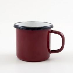 emaille-espresso-kopje-donkerrood-rood-kinder-beker-emaille-6-cm