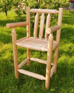 luxe barkruk / verhoogde stoel - 'Henry' - rondhout