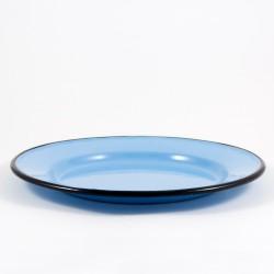 plat bord - rood & spikkeltjes - 22 cm