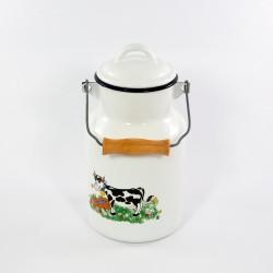beschadigde - melkbus - wit & koe - 2 liter