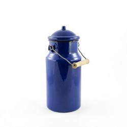 tweedehands - beschadigde -melkbus - blauw met zwarte rand - 2 liter