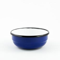 schaaltje/kom - crème & zwarte stippen - laag model