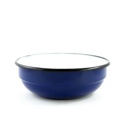 tweedehands - beschadigde - schaal/kom - blauw & ribbel - 1,5 liter