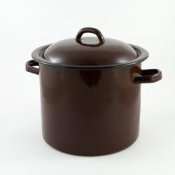 tweedehands -beschadigde - kookpan - bruin -  5,5 liter