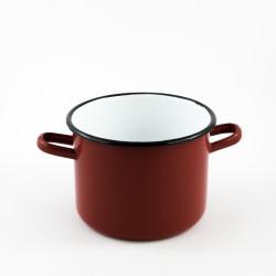 kookpan - rood zonder deksel - 2 liter - hoog model