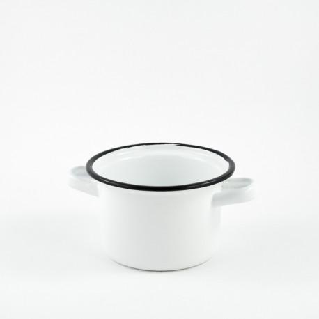 kookpannetje - rood & witte stippen - 500 ml