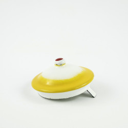 beschadigd - deksel - geel voor koffiepot