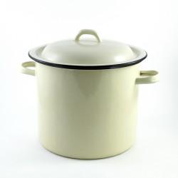 tweedehands -beschadigde - kookpan - créme - 7,5 liter