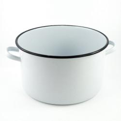 beschadigde - kookpan - wit & spikkels - 10 liter