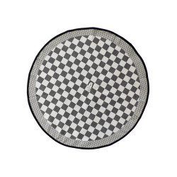 theedoek - ELIAS - zwart geblokt - 65 cm rond