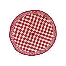 theedoek - ELIAS - rood geblokt - 65 cm rond