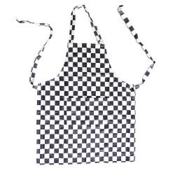 theedoek/pompdoek - zwart geblokt - 65 x 65 cm