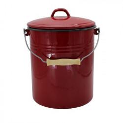 voorraademmer / prullenbak / luieremmer - donkerrood - 12 liter - inclusief deksel