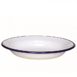 soepbord - HOLLAND - wit met donkerblauwe rand - 24 cmx15cm