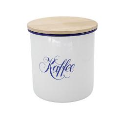 voorraadpot 'Kaffee' - HOLLAND- wit met blauw -