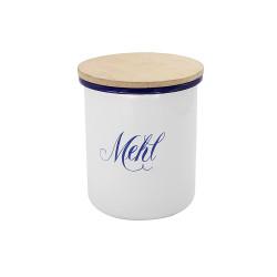 voorraadpot 'Mehl' - HOLLAND- wit met blauw -