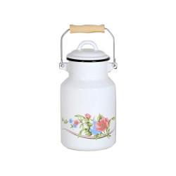 melkbus - lila & lichtblauwe bloemen - 2 liter